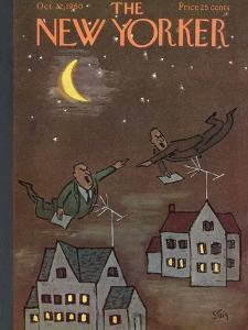 The New Yorker Cover - October 22, 1960 by William Steig