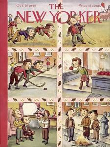 The New Yorker Cover - October 26, 1940 by William Steig