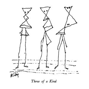 Three of a Kind - New Yorker Cartoon by William Steig