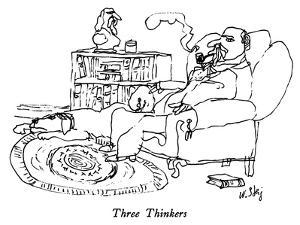 Three Thinkers - New Yorker Cartoon by William Steig