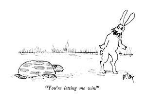 """You're letting me win!"" - New Yorker Cartoon by William Steig"