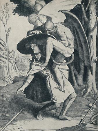 'Christian Fighting Apollyon', 1895, (1923)