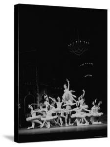 Dancer Moira Shearer Playing Lead in Cinderella Ballet, Acting with Michael Somes, the Prince by William Sumits