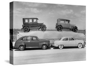 New Ford Cars Arranged to Make Advertising Pictures by William Sumits