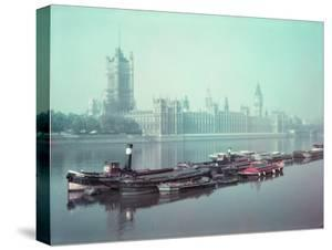The Parliament Buildings Along the Thames by William Sumits
