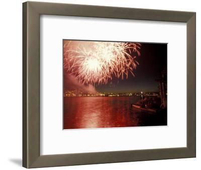 4th of July Fireworks on Lake Union, Seattle, Washington, USA