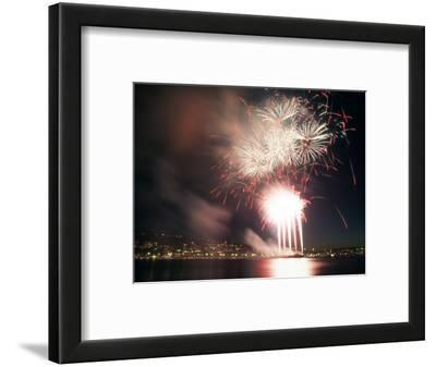 4th of July Fireworks over Lake Union in Seattle, Washington, USA