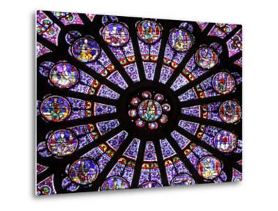 A Rose Window in Notre Dame Cathedral, Paris, France