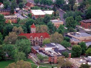 Aerial View of Whitman College Campus in Walla Walla, Washington, USA by William Sutton