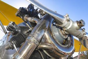Biplane engine detail, Madras, Oregon. by William Sutton