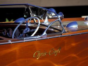 Chris Craft Classic Wooden Powerboat, Seattle Maritime Museum, Lake Union, Washington, USA by William Sutton