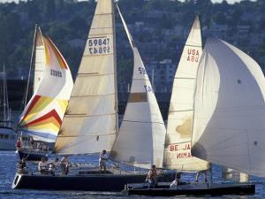 Duck Dodge Sailboat Race, Lake Union, Seattle, Washington, USA by William Sutton