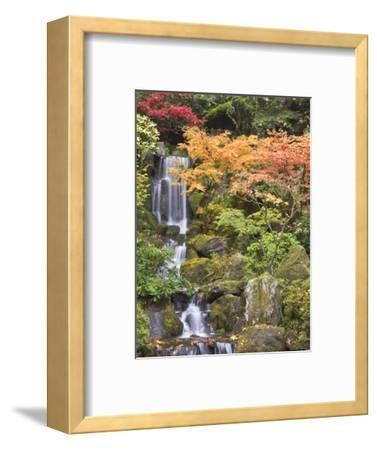 Heavenly Falls and Autumn Colors, Portland Japanese Garden, Oregon, USA