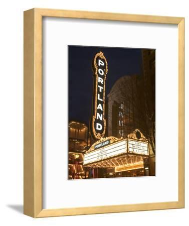 Illuminated Marquee of the Arlene Schnitzer Auditorium, Portland, Oregon, USA