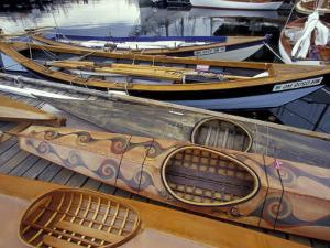 Kayaks and Rowboats at the Center for Wooden Boats, Seattle, Washington, USA by William Sutton