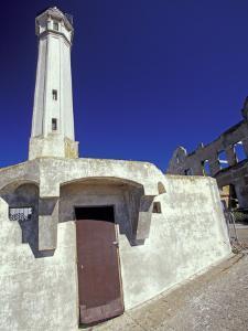 Lighthouse at Alcatraz Island, San Francisco, California, USA by William Sutton