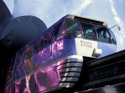 Monorail and the Experience Music Project at Seattle Center, Washington, USA by William Sutton