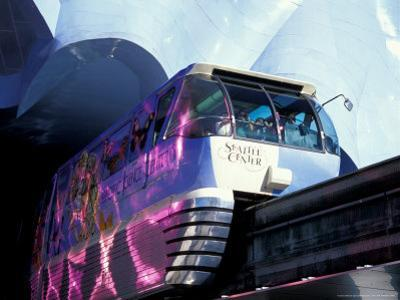 Monorail Under Experience Music Project, Seattle, Washington, USA by William Sutton