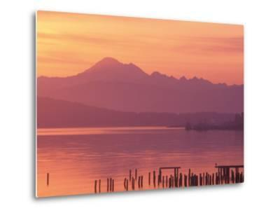 Mt. Baker and Puget Sound at Dawn, Anacortes, Washington, USA