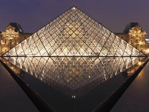 The Pyramide Du Louvre, Paris, France by William Sutton