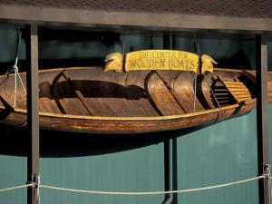 Wooden Boat Hanging at The Center for Wooden Boats, Seattle, Washington, USA by William Sutton