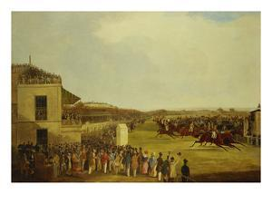 Col. Peels's 'The Bey of Algiers', Nat Flatman Up, Winning the 1840 Chester Cup by William Tasker