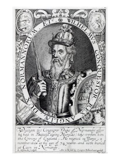 William the Conqueror, 1618-Renold Elstrack-Giclee Print