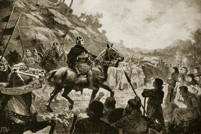 William the Conqueror's March into Wales in 1081--Giclee Print