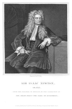 Isaac Newton, English Mathematician and Physicist, 1836