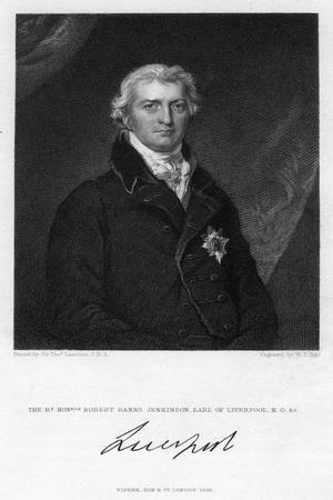Robert Jenkinson, 2nd Earl of Liverpool, British Politician and Prime Minister