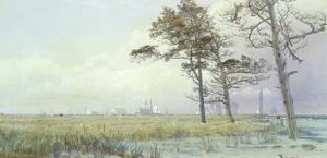 Coastal Scene, Atlantic City, New Jersey, 1854 by William Trost Richards