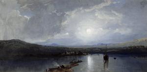 Moonlit River by William Trost Richards