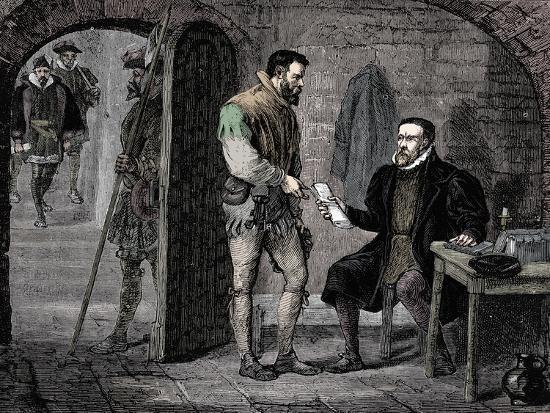 William Tyndale, English translator, 1536 (late 19th century)-Unknown-Giclee Print