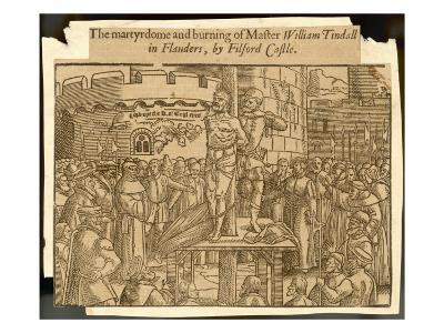 William Tyndale, Translator of the Bible, Is Arrested at Antwerp, Strangled and Burnt--Giclee Print