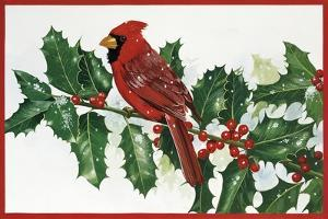 Cardinals and Holly by William Vanderdasson