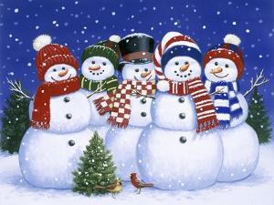 Five Snowmen by William Vanderdasson