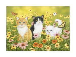 Kittens in the Garden by William Vanderdasson