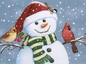 Santa Snowman by William Vanderdasson
