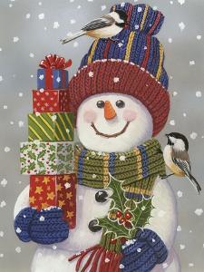 Snowman with Presents by William Vanderdasson