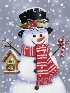 Snowman with Tophat by William Vanderdasson