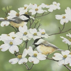 Springtime and Chickadees by William Vanderdasson