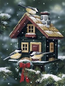 Winter Birdhouse by William Vanderdasson