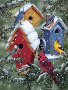 Winter Birdhouses by William Vanderdasson