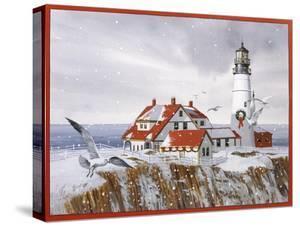 Winter Lighthouse by William Vanderdasson