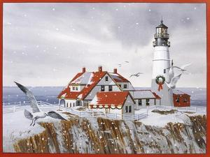 Winter Lighthouse by William Vanderdasson