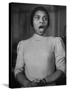 African American Singer Marian Anderson Rehearsing by William Vandivert