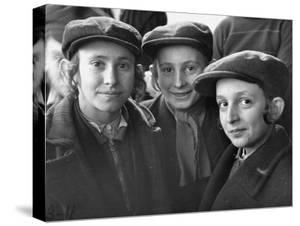 Jewish Children Posing for a Picture by William Vandivert