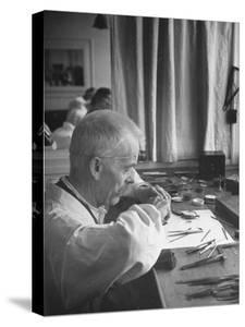 Man Working at Watch Factory by William Vandivert
