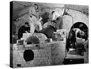 Men Working the Open Hearth Mill by William Vandivert