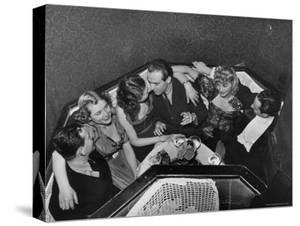 "Patrons in Budapest Nightclub ""Arizona"" by William Vandivert"